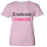TurnTo Designs - Eradicate Cancer Vinyl Light Pink T-Shirt