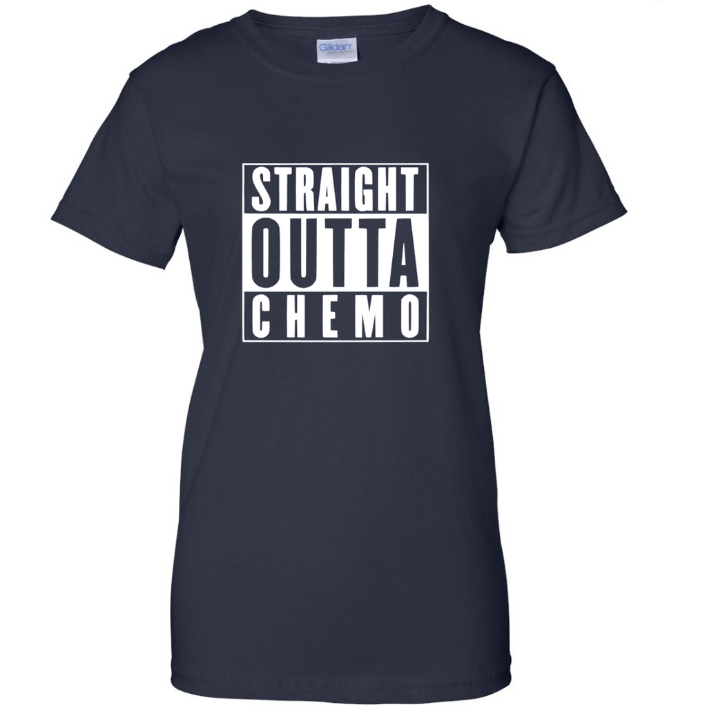 "TurnTo Designs - ""Straight Outta Chemo"" Vinyl Navy Blue  T-Shirt - SWALKERDESIGNS & TurnTo Designs"