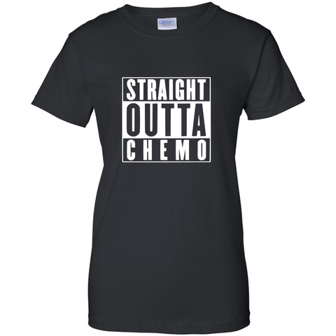 "TurnTo Designs - ""Straight Outta Chemo"" Vinyl Black  T-Shirt - SWALKERDESIGNS & TurnTo Designs"