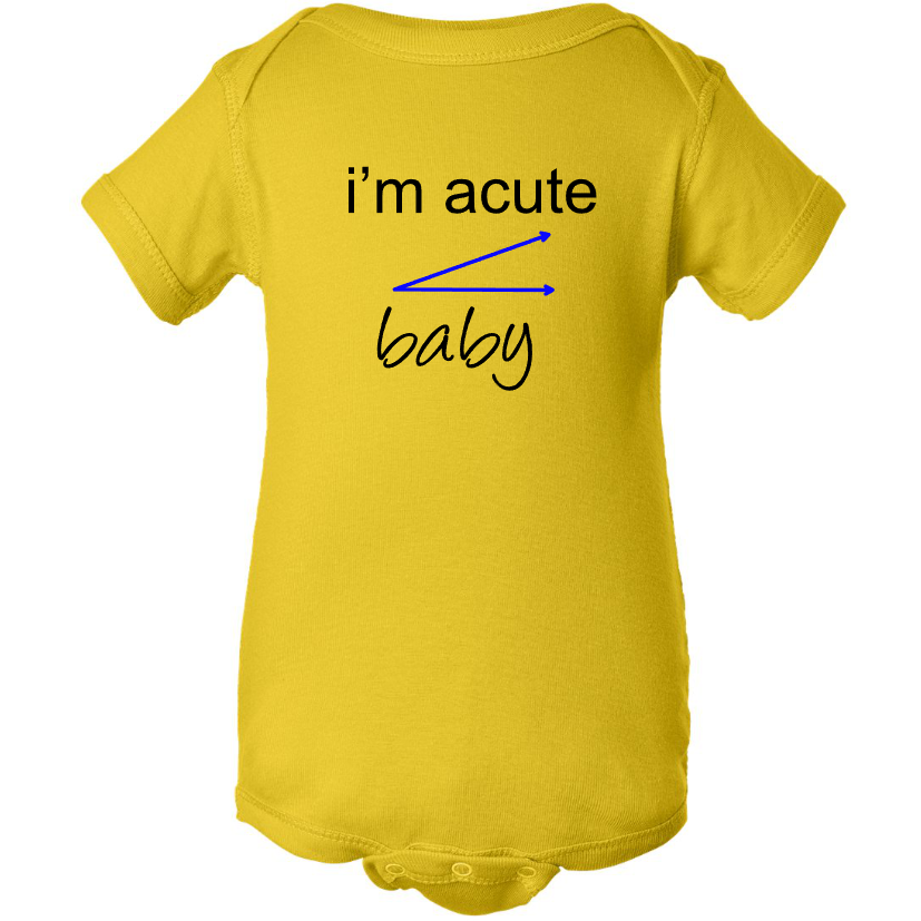 I'M ACUTE BABY Yellow Baby Boy Creeper Onesie - SWALKERDESIGNS & TurnTo Designs