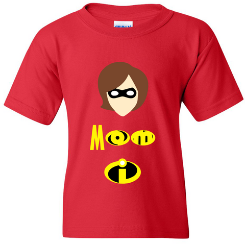 TurnTo Designs - ELASTIGIRL  Helen Parr Red Custom Shirt