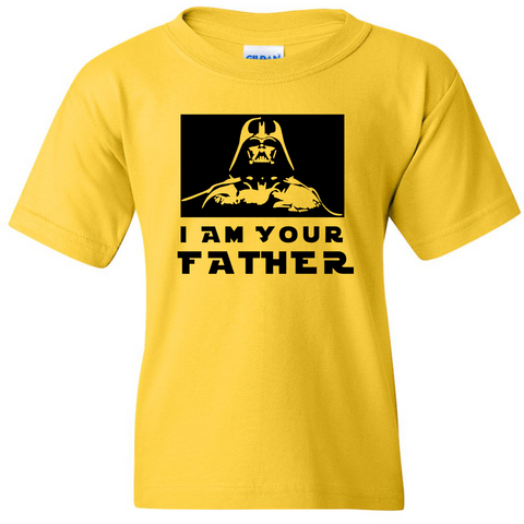 TurnTo Designs - Stars Wars DARTH VADER I AM YOUR FATHER Vinyl Yellow T-Shirt