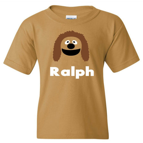 TurnTo Designs - Muppets ROWLF the Dog Vinyl with Custom Name Logo Number