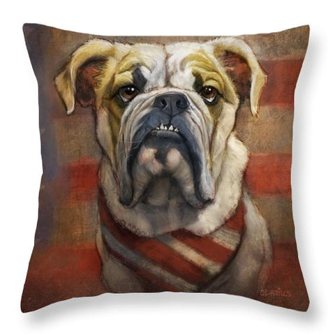 American Bulldog - Throw Pillow