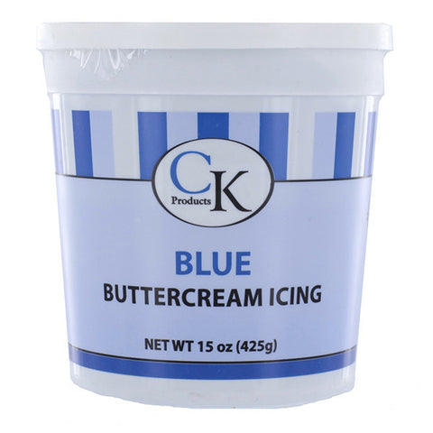 Blue Buttercream Icing- 15 oz Container - Cupcake Dazzle