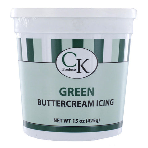 Green Buttercream Icing- 15 oz Container - Cupcake Dazzle