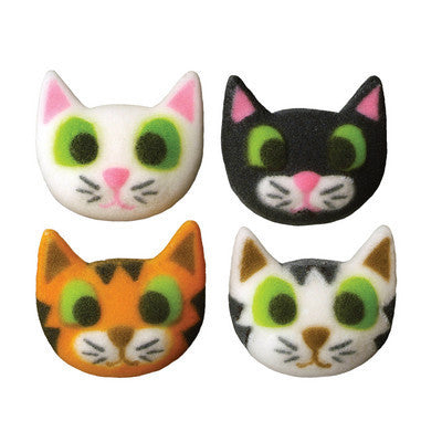 Cat Face Edible Sugar Pieces - Cupcake Dazzle