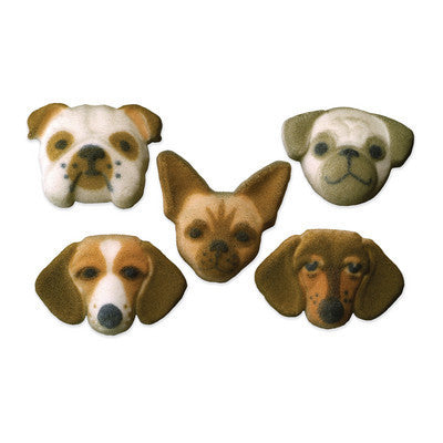 Dog Faces Sugar Pieces - Cupcake Dazzle