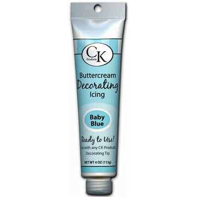 Baby Blue Buttercream Icing 4oz Tube - Cupcake Dazzle