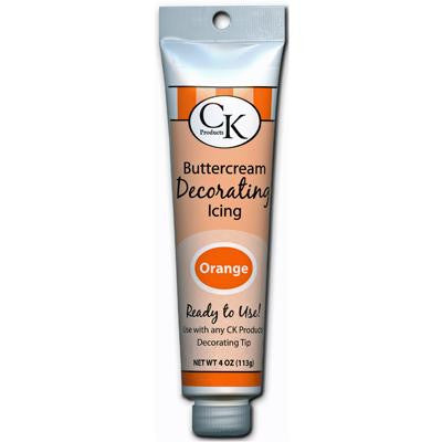 Orange Buttercream Icing 4oz Tube