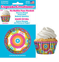 Color Burst Flower Cupcake Liners - Cupcake Dazzle