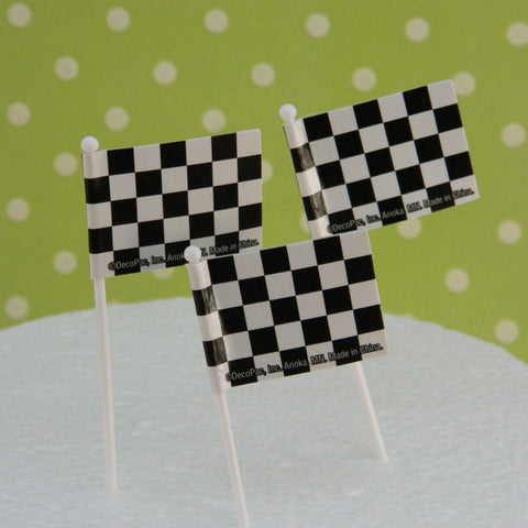 Checkered Racing Flags Picks - Cupcake Dazzle