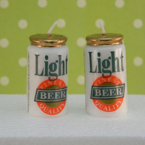 Beer Can Candles - Cupcake Dazzle
