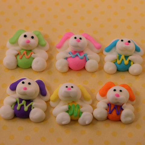 Hoppy Hoppers Bunny Royal Icing Pieces - Cupcake Dazzle