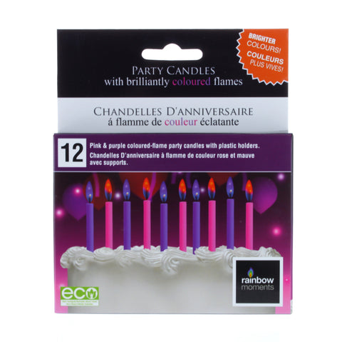 Girls Colored Flame Birthday Candles
