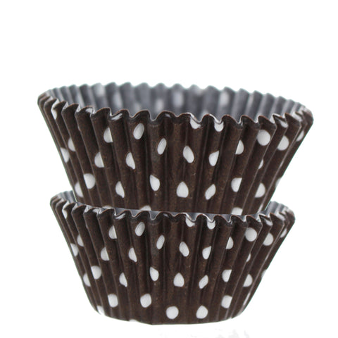 Brown with White Dots Cupcake Liners - Cupcake Dazzle
