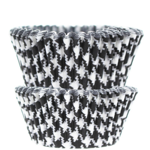 Black Houndstooth Cupcake Liners - Cupcake Dazzle