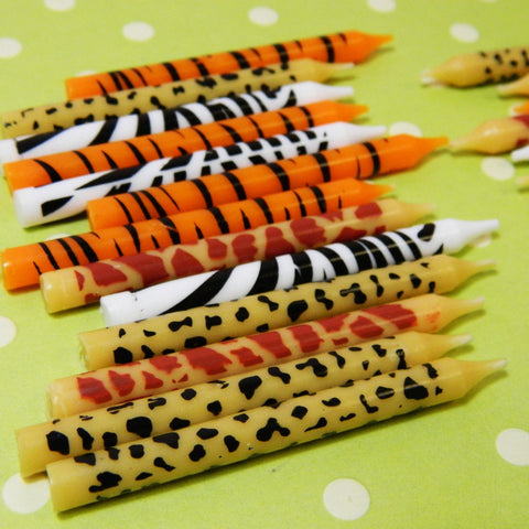 Animal Print Candles - Cupcake Dazzle