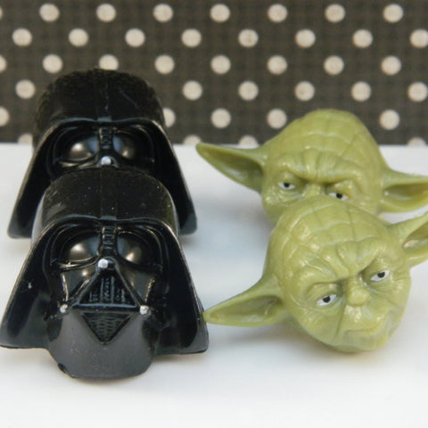 Darth Vader and Yoda Star Wars Rings - Cupcake Dazzle