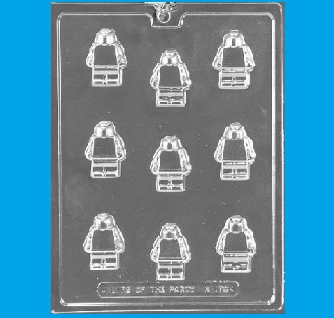 Building Block Lego Man Candy Mold - Cupcake Dazzle