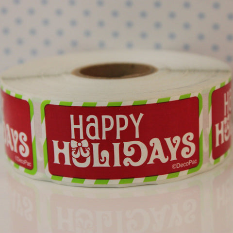 Happy Holidays Sticker Treat Labels - Cupcake Dazzle