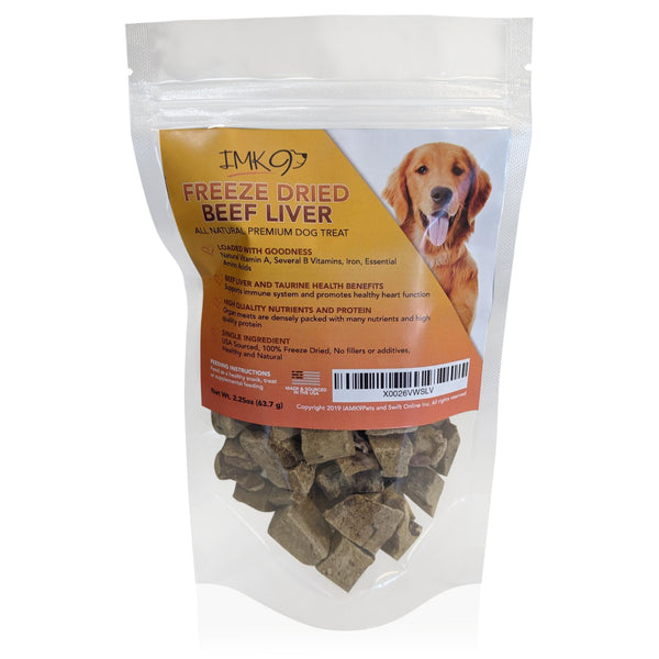 Freeze Dried Liver Treats for Dogs - Natural Taurine Source, 100% Pure, Premium Single Ingredient, Grain Free - Healthy Training Treats for Puppies, No Additives, Preservatives or Gluten - Made in USA