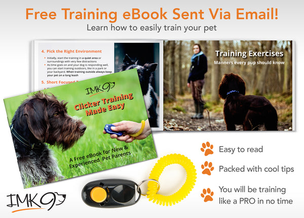 Dog Clicker – Bonus eBook For Pet Training, Obedience and Housebreaking – 2 Pack Set With Wrist Strap – Safe and Humane Way To Train Your Dogs – Great Gift Idea