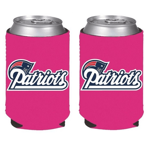 New England Patriots NFL Womens Hot Pink Can Holder Collapsible Cooler - 2 Pack