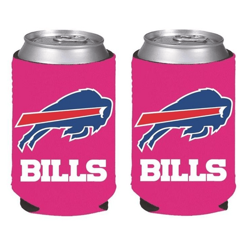 Buffalo Bills NFL Womens Hot Pink Can Holder Collapsible Cooler - 2 Pack