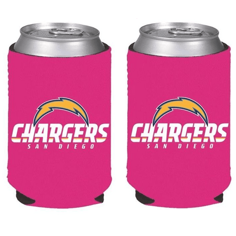 San Diego Chargers NFL Womens Hot Pink Can Holder Collapsible Cooler - 2 Pack