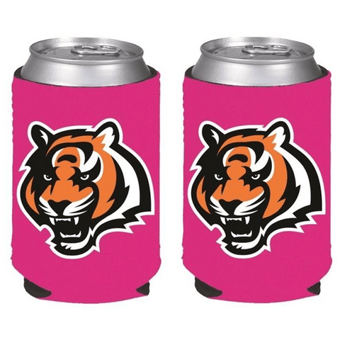 Cincinnati Bengals NFL Womens Hot Pink Can Holder Collapsible Cooler - 2 Pack