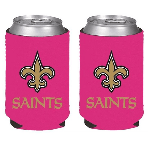 New Orleans Saints NFL Womens Hot Pink Can Holder Collapsible Cooler - 2 Pack