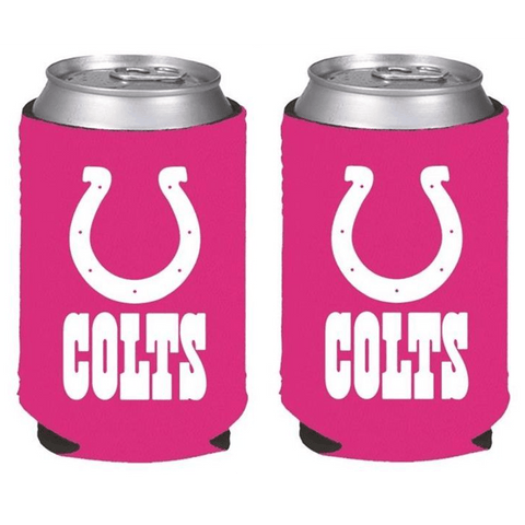 Indianapolis Colts NFL Womens Hot Pink Can Holder Collapsible Cooler - 2 Pack