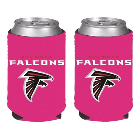 Atlanta Falcons NFL Womens Hot Pink Can Holder Collapsible Cooler - 2 Pack