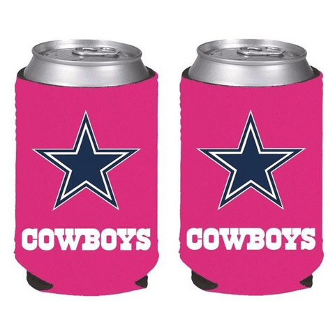 Dallas Cowboys NFL Womens Hot Pink Can Holder Collapsible Cooler - 2 Pack