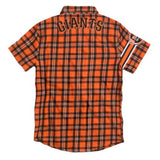 San Francisco Giants MLB Wordmark Short Sleeve Flannel Shirt by Klew