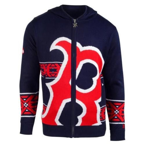 Boston Red Sox Official MLB Full Zip Hooded Sweater
