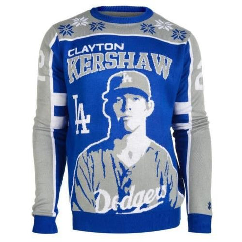 Los Angeles Dodgers Kershaw #22 Official MLB  2015 Player Ugly Sweater