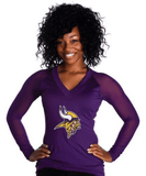 "Minnesota Vikings Women's Official NFL""wildkat"" Top White"