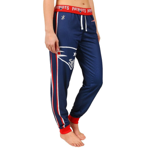 New England Patriots Official NFL Womens Poly Fleece Jogger Pants