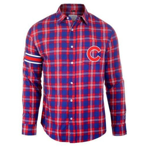 Chicago Cubs MLB Long Sleeve Men's Flannel Shirt By Klew