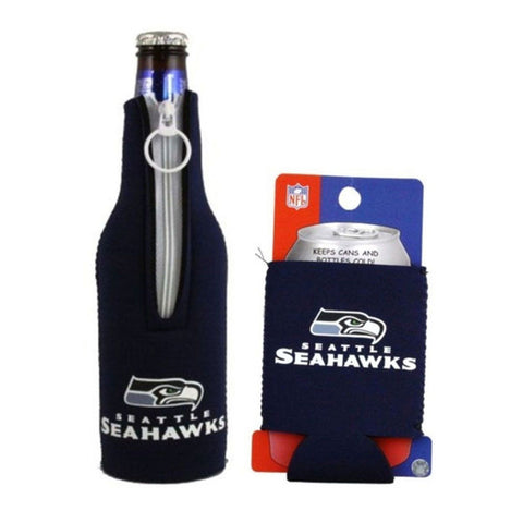 Seattle Seahawks NFL Cooler Can & Bottle Beer Drink Holder Officially Licensed