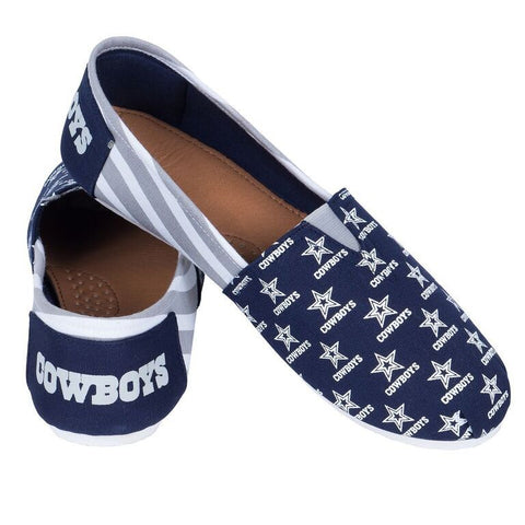 Dallas Cowboys Official NFL Stripe Canvas Shoes