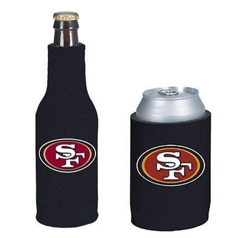 San Francisco 49ers NFL Cooler Can & Bottle Beer Drink Holder Officially Licensed