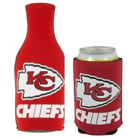 Kansas City Chiefs NFL Cooler Can & Bottle Beer Drink Holder Officially Licensed