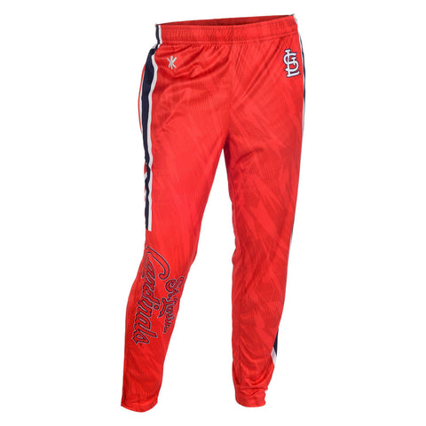 St Louis Cardinals Official MLB Men's Tapered Zip Up Pants