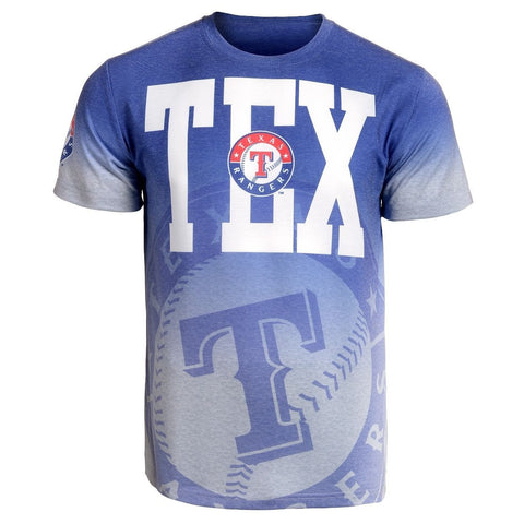 Texas Rangers Official MLB Gradient Tee By Klew
