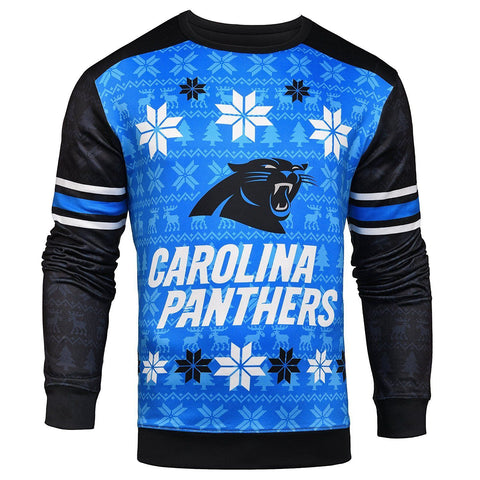 Carolina Panthers Official NFL Printed Ugly Sweater