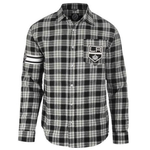 LA Kings Long Sleeve NHL  Men's Flannel Shirt By Klew