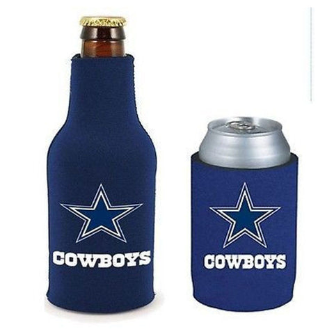 Dallas Cowboys NFL Cooler Can & Bottle Beer Drink Holder Officially Licensed